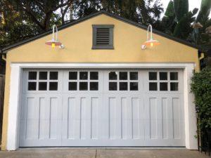 White carriage house garage door