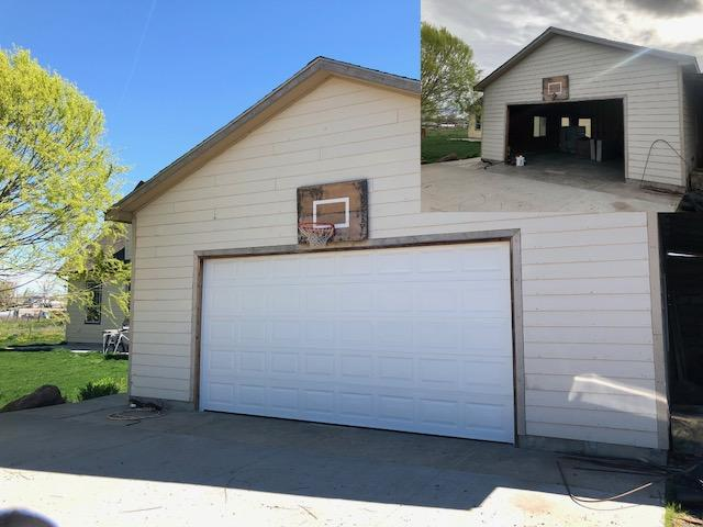 before and after new garage door